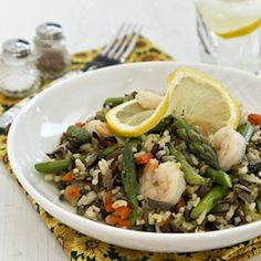 {recipe} Warm Asparagus and Wild Rice Salad -delicious as a side dish or a stand-alone light lunch.