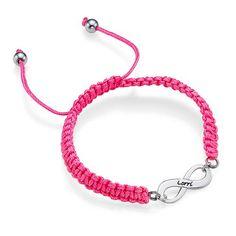Pink Infinity Friendship Bracelet  elfsacks