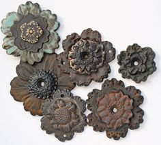 Stoneware Focal Beads by Lisa Peters ART...  I have a love affair with LPA beads and focals.  :-)