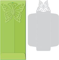 Une jolie enveloppe à décor papillon                                                                                                                                                                                 Plus
