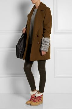 Isabel Marant | Nowles shearling-lined leather concealed wedge boots | NET-A-PORTER.COM