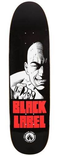 "Salman Agah ""Hardcore"" skateboard deck By Black Label    - Custom Shape 8.75 x 32 / 14.5"