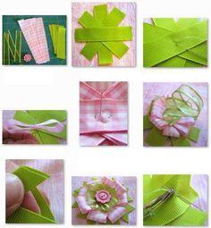 Ribbon flower tutorial