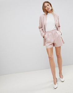 Find the best selection of ASOS DESIGN tailored mini jacquard short. Shop today with free delivery and returns (Ts&Cs apply) with ASOS! Tailored Shorts, Blazer And Shorts, Pleated Shorts, Blazer Dress, High Waisted Shorts, Blazer E Short, Short Suit, Short Shorts, Asos
