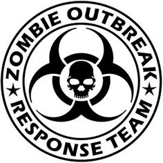 Zombie Outbreak Response Team Vinyl Decal by Remarkable Walls, $18.00