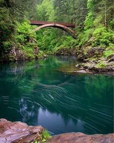 Moulton Falls Bridge, Moulton Falls Regional Park, Washington / by Nick Grier  I'd love to go here!
