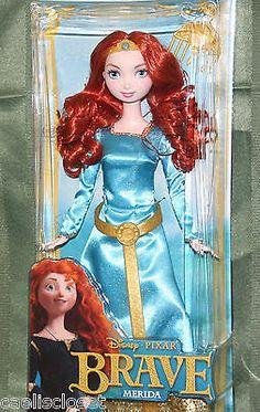 Disney Pixar BRAVE Princess MERIDA Mattel Red Head Hair Doll NEW