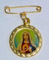 Sacred Heart of Mary Lapel Pin Prayer Cards, Sacred Heart, All Saints, Lapel Pins, Brooch Pin, Brooches, Mary, Christmas Ornaments, Holiday Decor