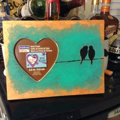 Love birds picture frame!