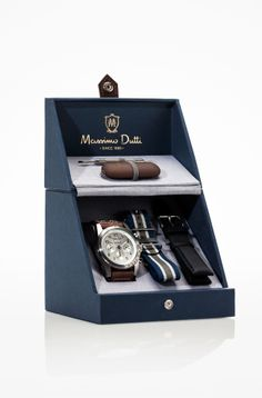SPORTS CHRONOGRAPH WATCH WITH TRIPLE STRAP - Massimo Dutti