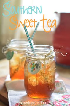 Southern Sweet Tea - relax and enjoy summer with this sweet and refreshing drink | the makeshift nest
