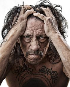 Danny Trejo - such character and incredible lines in his face. This is such a great portrait! Celebrity Photography, Celebrity Portraits, Celebrity Photos, Portrait Photography, Famous Portrait Photographers, Famous Portraits, Drawing Portraits, Foto Face, Danny Trejo