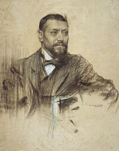 Portrait Of Jose Francos Rodriguez  Ramon Casas
