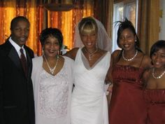 With Family on her Wedding Day