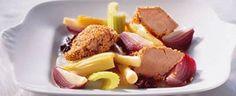 Sesamstegt svinemørbrad med grøntsager i lun anislage og couscous