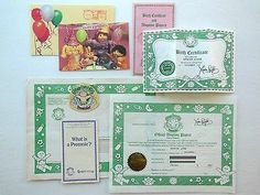 lot 11 paper items preemie cabbage patch kids birth certificate 1983 1984 coleco