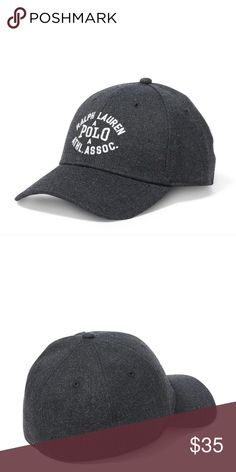 New POLO RALPH LAUREN Spell Out Hat Charcoal Gray Ralph Lauren Stretch Cap Hat  Excellent hat  New with Tags  The size is S/M or L/XL  Charcoal Gray  US Shipping is FREE Also I am part of the Global shipping program.  Check out my other items for sale in my store!  L3 Polo by Ralph Lauren Accessories Hats