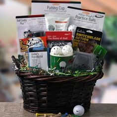Golf gift basket belwood pinterest golf gift and basket ideas find the perfect retirement gift basket for men and women at diygb choose a pre designed retirement gift basket or design it yourself solutioingenieria Image collections