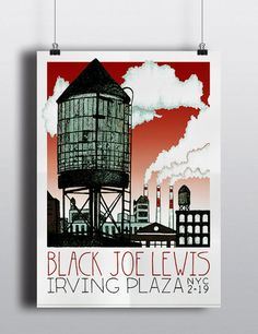 Black Joe Lewis Irving Plaza NYC Official by BCPrintMedia on Etsy