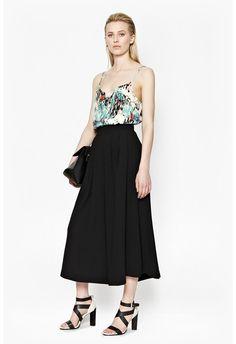 Isla Ripple Strappy Top #print #pattern #black #style #culottes #cami #stretch #heels #strappy #nightout #ss15