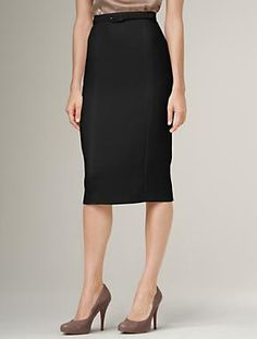 Black pencil skirt perfect length