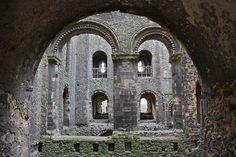 Castle interior, Rochester Castle, Kent.