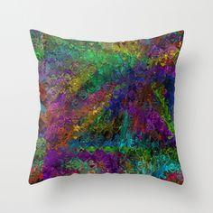 Liquid Abstract Throw Pillow