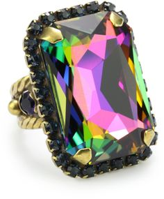 "Sorrelli ""Aurora Sky"" Adjustable Cocktail Ring > Price:	$35.20 > Click on the image for details and offers."