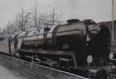 """""""Santa Special 34046"""" Drawing  - A4 print £20 - The Bullied pacific Broughton 34046 steam locomotive built in1946  Pictured pulling the East Lancashire Railway Santa special train  Please note that you are buying a Limited Edition print of my drawing, not the original  Prints will be signed, numbered and professionally mounted."""