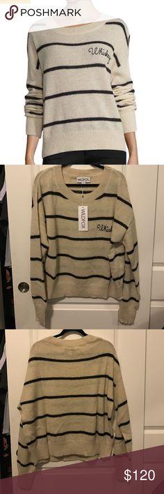 🌸WildFox Whiskey Striped Sweater WildFox Whiskey Striped Sweater Wildfox Sweaters