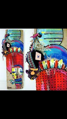 Alinet, artist from Brasil.  @alinet.oficial #wood #art #toyart #afro #blackpower