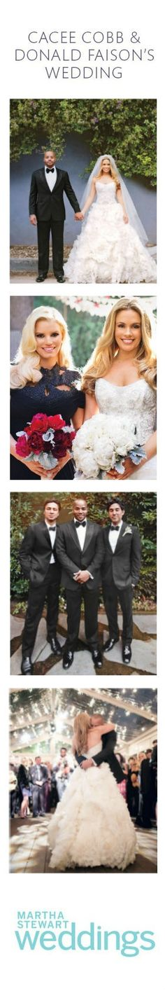 Get an exclusive look at CaCee Cobb and Donald Faison's wedding.