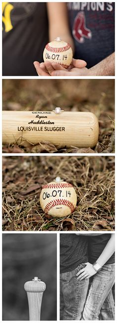 DFW photographer Angela Wynn photography: baseball theme engagement session, ring shot, baseball bat, cute, portrait ideas, beautiful, photography, creative, unique, winter, couples ideas, engagements, young love, field, forest, nature, engagement pose pictures, lace, green eyes