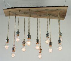 Φωτιστικό με γλόμπους και ξύλινη βάση | Wood Collection | Φωτιστικό με γλόμπους και ξύλινη βάση from Lampadari φωτιστικό vintage ξύλο και λαμπτήρες edison.  Handcrafted vintage chandelier with edison bulbs.