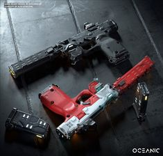 (Lily) by Ilya Danilov Sci Fi Weapons, Weapon Concept Art, Fantasy Weapons, Weapons Guns, Guns And Ammo, Armas Ninja, Future Weapons, Custom Guns, Fire Powers