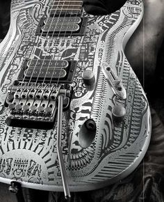 Another Giger engraved guitar. This one will not try to kill you...