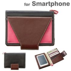 Simplism-Multi-Purpose-Card-Pockets-Smartphone-Case-Cover-Clutch-Purse-Brown