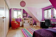 45 Vibrant and Lovely Kids Bedroom Designs | http://www.designrulz.com/spaces-for-living/childs-room/2013/01/45-vibrant-and-lovely-kids-bedroom-designs/