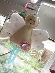 felt angel be awesome to fill with rice and give as gifts or stocking stuffers as hand warmers!!