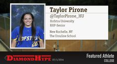 Congratulations to today's #DHFeaturedAthlete Taylor Pirone of #Hofstra University Softball! Check out all your softball news on DiamondHype.com