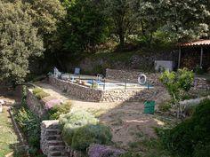 piscine laghetto classic habillage bois et pierre