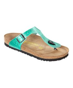 d037347570f Take a look at this Mint Leather Gizeh Thong Sandal - Women by Birkenstock  on
