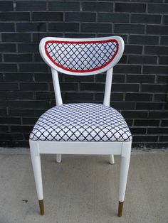 Greasers, Elvis, the 50's....upcycled upholstered chair (sold)