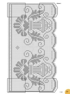 Crochet Tablecloth, Filet Crochet, Color Patterns, Needlework, Diy And Crafts, Crochet Patterns, Weaving, Cross Stitch, Notes