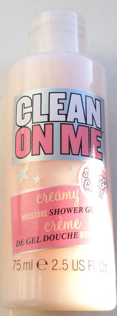 Clean on me soap and glory. I am sensitive to body  washes. This one is awesome! Clean, floral scent, cleans well,  and leaves skin soft.