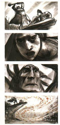 Glen Keane - Pocahontas Concept Art