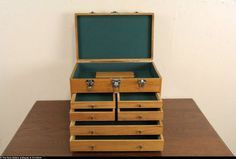 Oak Vintage Machinist Tool Chest, Collector or Jewel Box: Removed Machinist Tools, Jewel Box, The Collector, Jewels, Furniture, Vintage, Jewerly, Jewelry Box, Home Furnishings