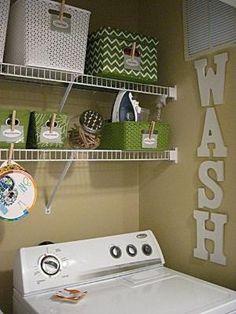 Laundry Room Organization by shawn