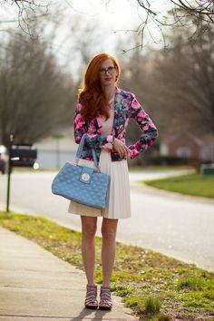 Floral Blazer Styled : Reviewing Jambu Footwear Sugar Sandals - Elegantly Dressed & Stylish - Over 40 Fashion Blog