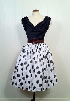 50's chiffon dress - love it.